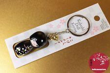 KOKESHI BOIS WOOD JAPONAIS STRAP BELL CLOCHE PORTE-BONHEUR JAPANESE COOL RARE