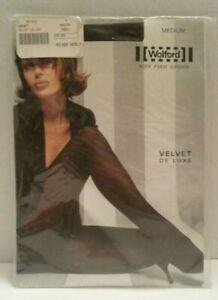 "Wolford Velvet Deluxe NIP ""River Heels"" Pantyhose 50 Denier sz MEDIUM Mocca"
