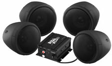 Audio 1000w Bluetooth 4) Speakers+Amplifier Handlebar System Motorcycle/ATV Boss