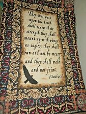Goodwin Weavers Crown Crafts Isaiah 40:31 Life Outreach Tapestry Throw Blanket