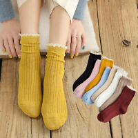 Female Socks Solid Candy Color Sweet Princess Girls Comfortable Hosiery//