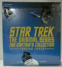 STAR TREK TOS THE ORIGINAL SERIES CAPTAIN'S RITTENHOUSE T/C HOBBY BOX NEW SEALED