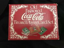Vintage Old Fashioned Coca-Cola Playing Cards Sealed Double Deck Gift Tin NEW