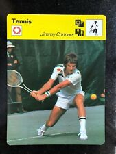 JIMMY CONNORS 1977 Sportscaster Card #01-18 TENNIS