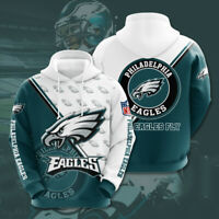 Philadelphia Eagles Hoodies Hooded Football Sweatshirt 3D Casual Jacket Pullover