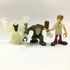 "Lot 3Pcs Scooby Doo Creeper Phantom Morphing Monsters Shaggy 3.0"" figure toy"