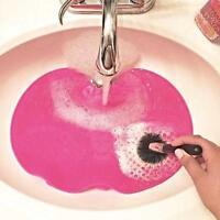 Pink Silicone Makeup Washing Brush Travelling Cleaning Mat Pad Tool UK Seller