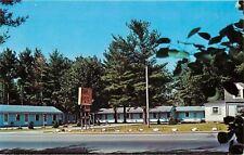 Derry New Hampshire~Skylark Motel~Rock Border~Tree Surrounded~1960s Postcard
