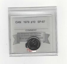 **1979**, Coin Mart Graded Canadian,  10  Cent, **SP-67**