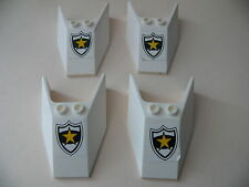 Lego 4 parebrises blancs set 6545 / 4 white windscreen with police badge
