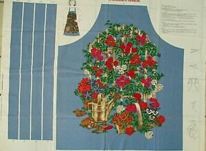 """""""A Garden Apron"""" Cotton Fabric Panel by VIP Cranston - Cut and Sew Apron"""