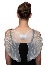 New White Net Angel Fairy Wings Medium Christmas Party Fancy Dress 35 x 40 cm
