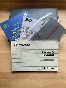 TOYOTA COROLLA E11 OWNERS MANUAL / HANDBOOK WITH WALLET 1997 1998 1999 REF2