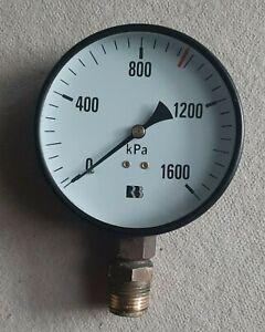 Air Pressure Gauge 1600KPA 100MM Diameter Air Compressor