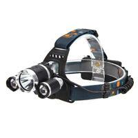 30000LM 3Head T6 LED 18650 Survival Headlamp Headlight Head Torch White Light