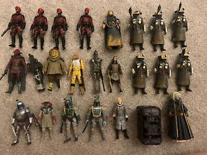 Star Wars 3.75 Bounty Hunters Gangs Scum Kessel Fett Figure Army Lot