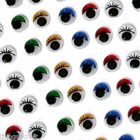 Craft Eyes - Colour Wiggly Wobbly Googly Eye -  Stick on - Choose Size UK Seller