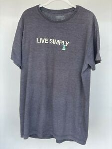 Patagonia Mens Live Simply Tee T Shirt Gray XL Slim Fit Organic Cotton Blend