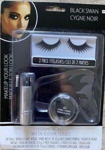 Black Swan Cosmetic Adult face Makeup Kit Halloween Costume