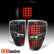 Fit Black 2009-2014 Ford F150 F-150 LED Tail Lights Lamps 2010 2011 2012 2013