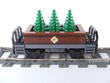 *New* Custom Built Train Car Built with New Lego Bricks ( Emerald Night 10194 )