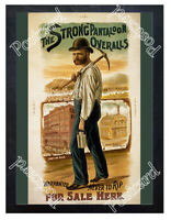Historic The 'Strong' Pantaloon Overalls Advertising Postcard
