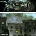 "37W""X12H"" TRUMPET MAN by JUSTIN BUA - STREET JAZZ FESTIVAL HORNS MUSIC CANVAS"