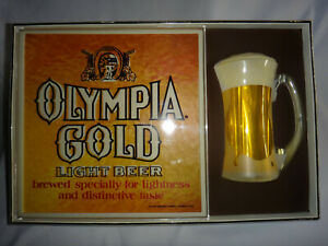 Olympia Brewing Company - Gold Light Beer 'Bubbling Mug' Lighted Sign