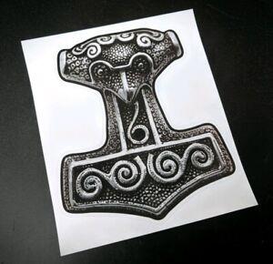 Precut Viking Mjolnir Sticker / Decal, Thors Hammer, Pagan, Norse, Asatru
