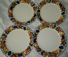 "Royal Copenhagen Golden Summer 4 Plates - Dinner plate 10"""
