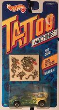 Vintage Hot Wheels Tattoo Machines Dragon Wagon 1992 Diecast Temporary New Rare