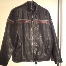 Arizona Jean Co Men's Faux Leather Moto Jacket - Small