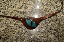 Leather eye patch dragon eye - adjustable with buckle - good for permanent use