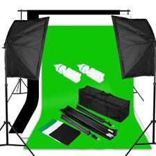 Photo Studio Kit d'Éclairage Complet 3*Fond 2*Softbox 2*Ampoule Sac de Transport