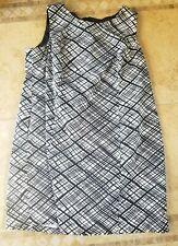 Women's lane Bryant sleeveless black white dress size 26W