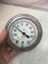 Vintage 4in Diameter ACCO Helicoid  Oil Gauge  Steam Punk Decor Industrial