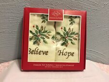 Lenox Christmas Holiday Fingertip Towels Set Of 2 NEW