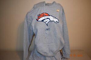 Denver Broncos Hooded Sweatshirt NFL Football Men's Small Hoodie New Reebok