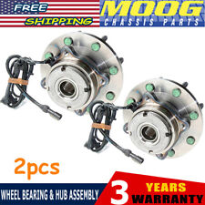 MOOG LH & RH Wheel Hub & Bearing Front for Ford Pickup Truck SD 4x4 4WD w/ ABS