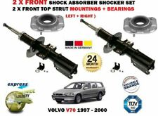 FOR VOLVO V70 1997-2000 2 X FRONT SHOCK ABSORBER SET + TOP MOUNTINGS + BEARINGS