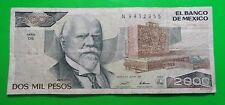 28Mar89 Dos Mil  Pesos 2000 Banco De Mexico N9412955 Circulated 52