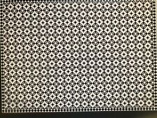 Dollhouse Miniature Wall Paper 1:12 Black White Tessellated Floor Satin Finish