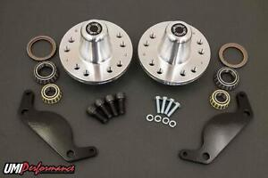UMI 78-88 Regal G-Body C5 C6 Front Brake Conversion Hubs Bearings Bracket Kit