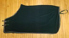 """Brand New 64"""" Green with white trim! Fleece Horse Cooler Blanket Size 64"""