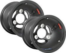 Douglas DWT Kart Magnesium 130mm Mag Black x 2 (Pair) Front Wheel