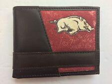 Zep-Pro Arkansas Razorback Men's Leather Bi-Fold Wallet with Box WR0031
