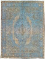 "Hand-knotted Carpet 10'0"" x 12'9"" Traditional Vintage Wool Rug"