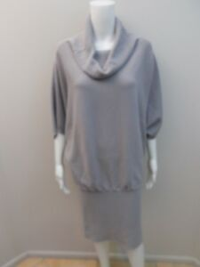 AS NEW MORRISSEY, WOOL BLEND GREY DRESS SIZE SMALL=8/10  (#1