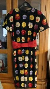 VINTAGE Akris Silk Short-sleeved Floral Dress size US 5