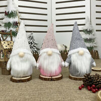 Weihnachten Gnompuppe Mini Weihnachtsmann Santa Claus Puppe Figur Dekofiguren ❤